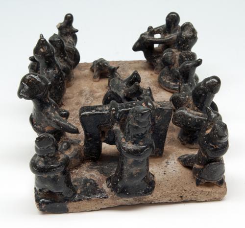 Beeld Acrobaten, van keramiek [Han dynastie]