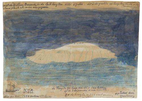 De grootste en hoogste ijsberg, gezien in de Spitsberg Zee