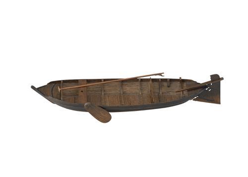 Model van een Westfriese veldschuit
