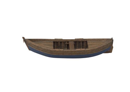 Model van een Walenboot met rechte voorsteven