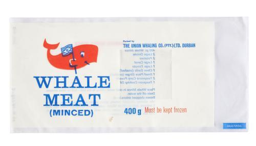 Plastic zak, verpakking voor gesneden walvisvlees