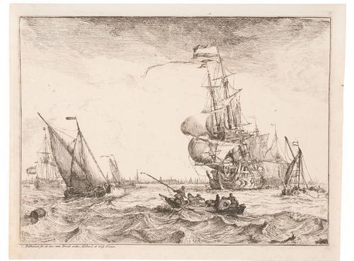 Uit de serie D'Y Stroom en Zeegezichten: Scheepvaart op het...