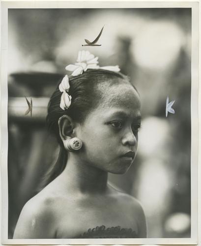 Portretfoto van een inwoner van Bali