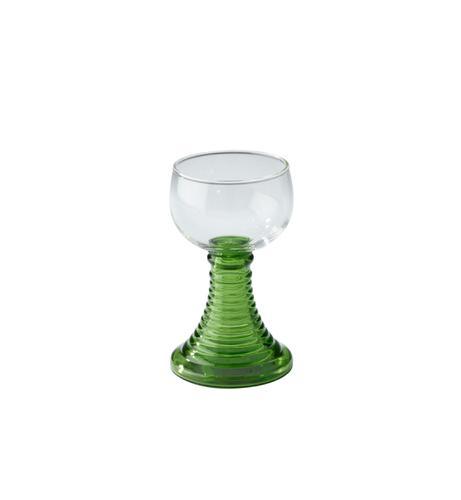 Wijnglas op groene voet, gebruikt door de Koninklijke...
