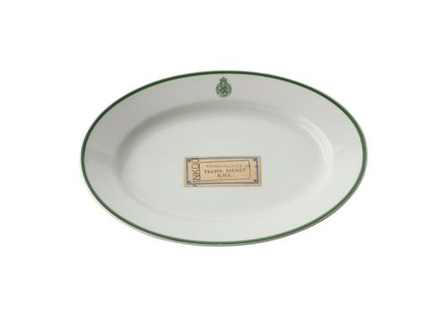 Vleesschaal van porselein met het logo van de Koninklijke...