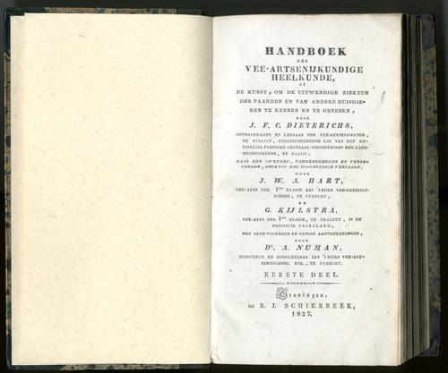 Handboek der vee-artsenijkundige heelkunde deel I