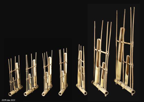 Javaanse angklung van bamboe