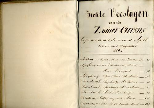 Ziekteverslagen van 's Rijks Veeartsenijschool 1845