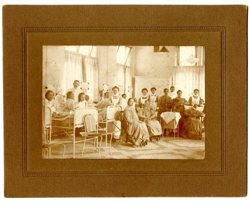 Ziekenzaal in de vrouwenkliniek van het Academisch Ziekenhuis Utrecht