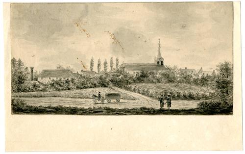Gezicht op Tilburg in 1830