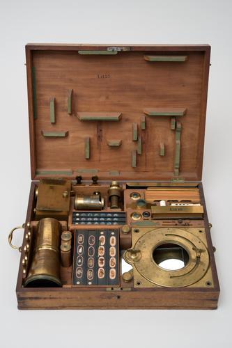 Projectiezonnemicroscoop voor opvallend en doorvallend licht