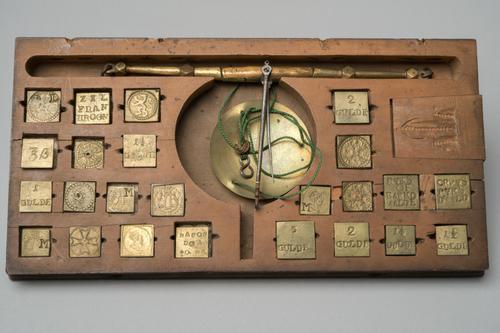 Muntgewicht of goudbalans