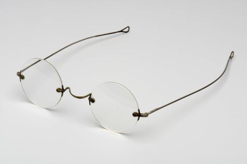 Slapenbril met vernikkeld montuur