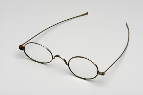Bril met stalen montuur