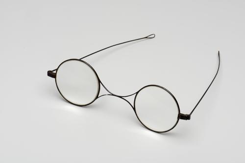 Slapenbril met blauw stalen montuur