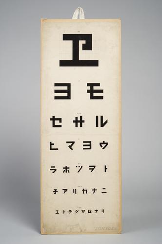 Letterproef met Japanse tekens