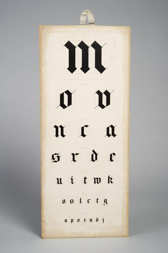 Letterproef met Gothische letters
