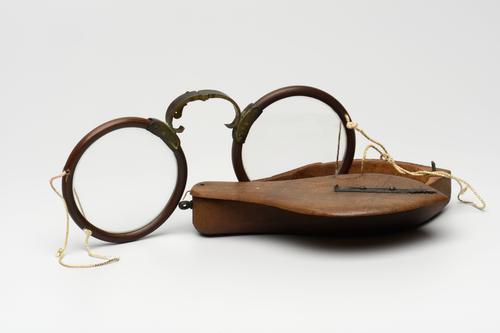 Vouwbril met houten montuur