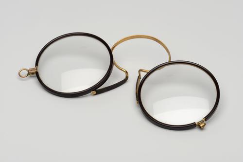 Knijpbril met stalen montuur