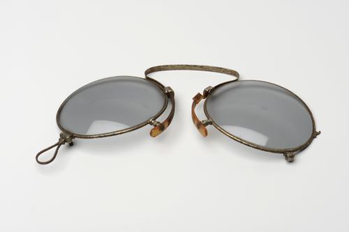 Opvouwbare knijpbril met stalen montuur