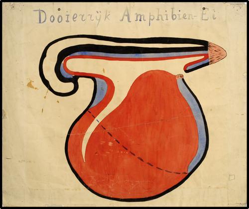 Dooierrijk amphibien-ei