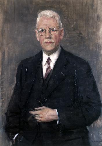 Portret in olieverf van August Adriaan Pulle
