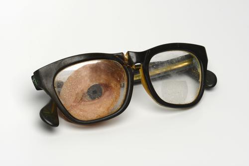 Bril met kunstoog