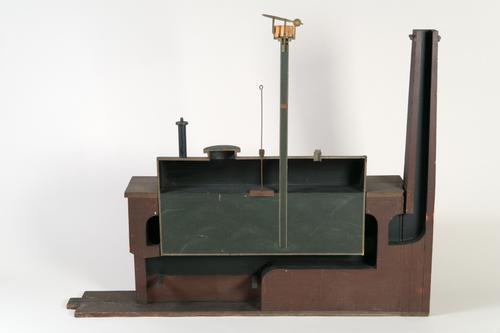 Model van een stoomketel