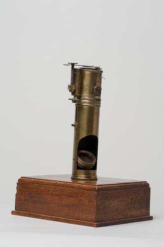 Microscoop volgens Wollaston, gewijzigd door Pieter Harting