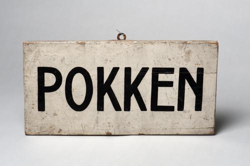 Waarschuwingsbord 'pokken'