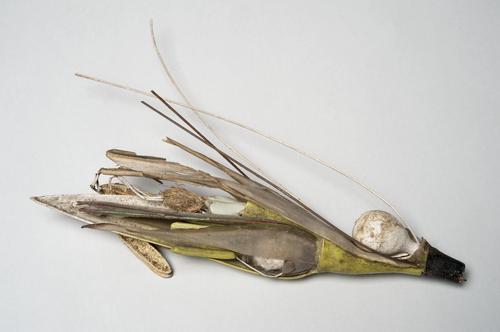 Papier-machémodel bloeiwijze van een grassoort