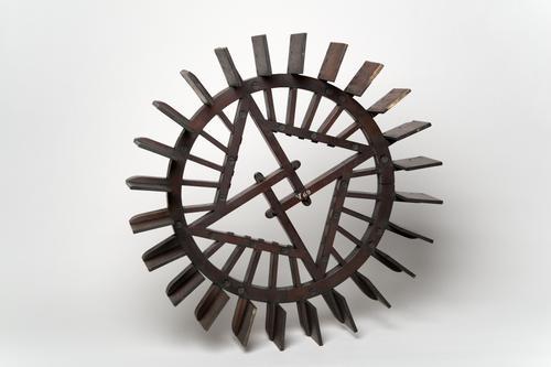 Model van een scheprad watermolen